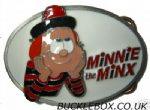 MINNIIE the MINX Belt Buckle + display stand
